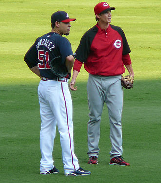 Kip Wells - Wells (right) with former Pirates teammate Mike Gonzalez in 2009.