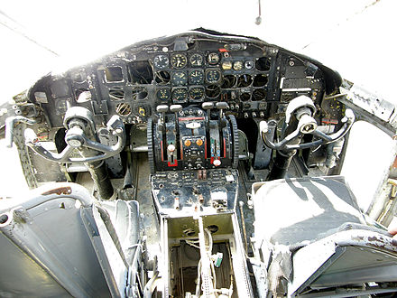 C-119C instrument panel - Fairchild C-119 Flying Boxcar