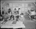 Minidoka Relocation Center. Free-hand drawing class - NARA - 536563.tif