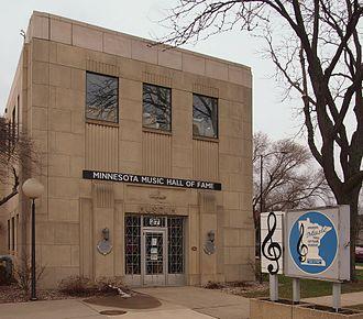 Minnesota Music Hall of Fame - The Minnesota Music Hall of Fame from the east