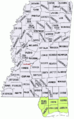 Mississippi counties Katrina severe damage map.png