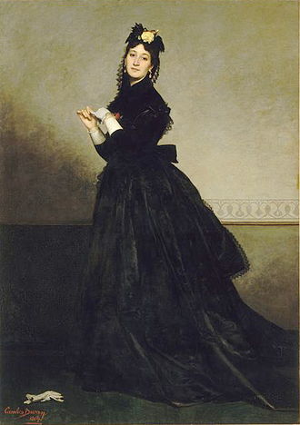 Carolus-Duran - The Lady in Gloves, modeled by his wife Pauline.