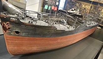 San Demetrio London - Image: Model of MV San Demetrio, on display at IWM 02