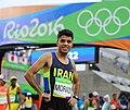 Mohammad Jafar Moradi at 2016 Summer Olympics marathon competition.jpg