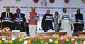 Mohd. Hamid Ansari releasing a book, at the Silver Jubilee celebrations of the Jawaharlal Nehru Centre for Advanced Scientific Research, in Bangalore. The Governor of Karnataka, Shri Vajubhai Rudabhai Vala.jpg