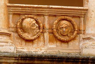 Maria of Aragon, Queen of Castile - Image: Monasterio de Santa María de Huerta Claustro plateresco Medallones 06