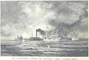 USS Monongahela (1862) - Monongahela rams CSS Tennessee