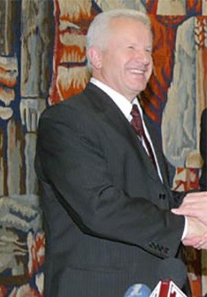 Ukrainian parliamentary election, 2002 - Image: Moroz Yushchenko cropped