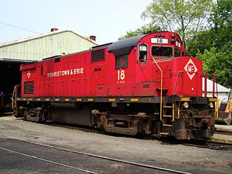 Morristown and Erie Railway - Image: Morristown & Erie C424 18