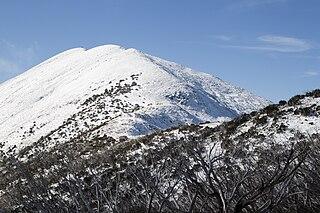 Mount Feathertop mountain in Victoria, Australia