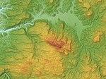 Mount Haneyama Relief Map, SRTM-1.jpg