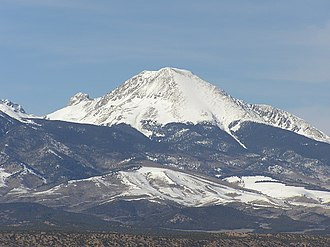 Mount Lindsey - Mt. Lindsey as seen from U.S. Route 160.