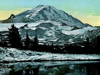 Asahel Curtis - Photo of Mt. Rainier by Asahel Curtis, 1908.