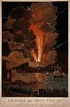 Mount Vesuvius erupting at night, billowing clouds and flash Wellcome V0025241.jpg