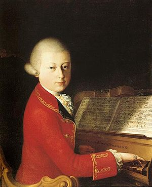 Josef Mysliveček - A portrait of Mozart, aged 14, in Verona, 1770, by Saverio dalla Rosa (1745–1821)