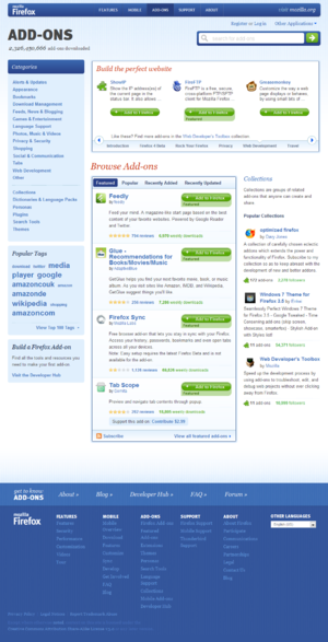 Add-on (Mozilla) - Image: Mozilla Add ons
