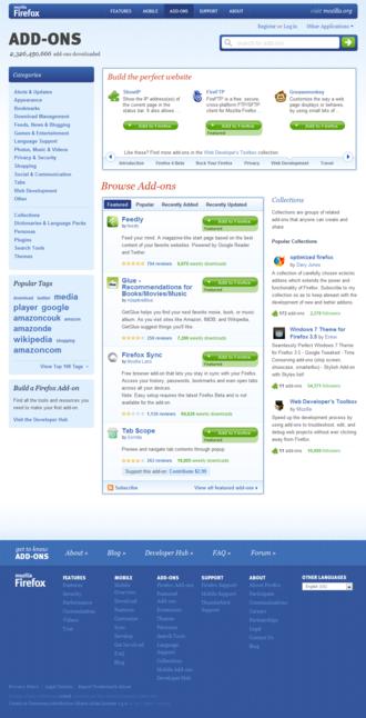 Add-on (Mozilla) - Image: Mozilla Add ons