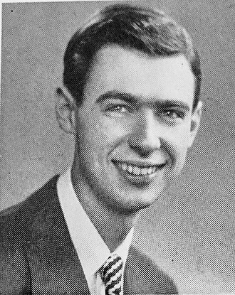 Fred Rogers - Photo of Fred Rogers as a senior in high school.