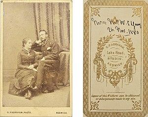 G. P. Abraham - Image: Mr & Mrs W S(?) Young, dated 26 November 1880, by G P Abraham, Keswick (4353612403)