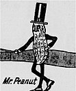 Mr. Peanut in 1917