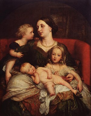 George Cavendish-Bentinck - Painting of Mrs. George Augustus Frederick Cavendish-Bentinck and her children by George Frederic Watts