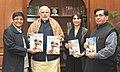 """Ms. Kiran Bedi presents her book """"Creating Leadership"""" to the Prime Minister, Shri Narendra Modi, in New Delhi on January 13, 2016.jpg"""