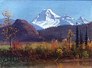 Mt. Baker from the Fraser River c.1890 Albert Bierstadt.jpg