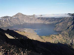 Mt Rinjani and segara anak lake