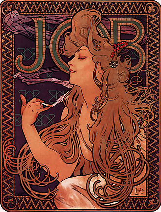 Republic Tobacco - JOB rolling papers 1896 ad (bought in 2005)