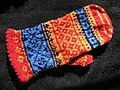 Multi-color hand-knit mitten.jpg