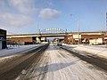 Muskogee snowstorm 2021-02-15 Muskogee Katy District welcome sign SW.jpg