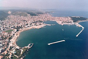 Aerial view of Mytilene in the island of Lesbo...