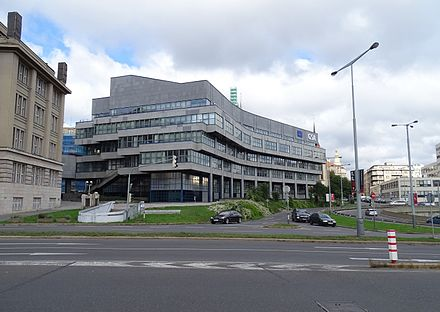 Headquarters of the Galileo system in Prague's Holesovice Nabrezi Kapitana Jarose, budova Galileo.jpg