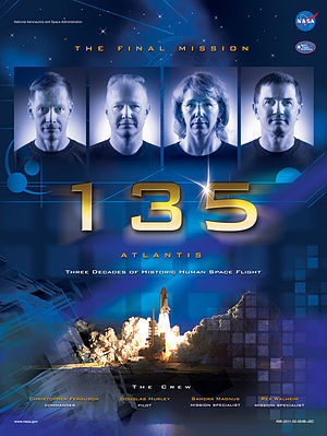 STS-135 - STS-135 mission poster.