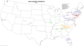 NCAA Division II men's lacrosse map.png