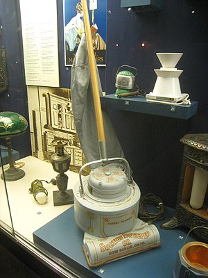 Early electric vacuum cleaner by Electric Suct...