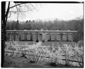 NORTHWEST FACADE OF ORANGERIE - Kykuit, Orangerie and Greenhouse, 200 Lake Road, Pocantico Hills, Westchester County, NY HABS NY,60-POHI,1C-1.tif
