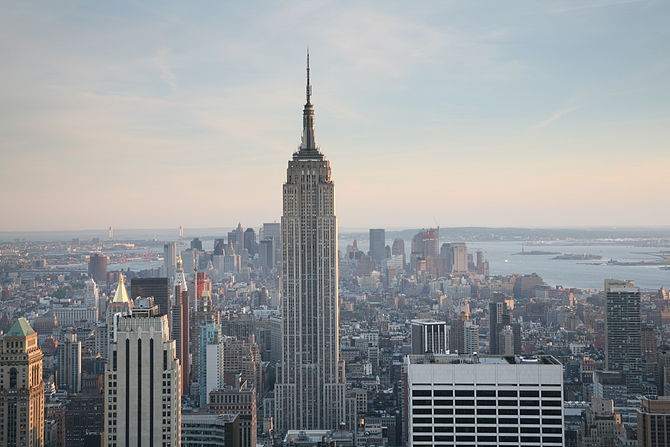 Empire State Building as seen from Top of the Rock