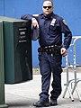 NYPD Policeman Strikes a Pose at Streetside - Midtown Manhattan - New York City - New York - USA (6937538910).jpg