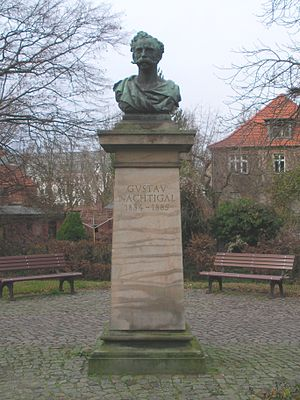 Gustav Nachtigal - Monument to Gustav Nachtigal in Stendal, Germany