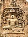 Nagamalai Pudukottai Jain rock cut Mahavira relief near Madurai Tamil Nadu India.jpg