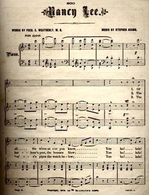 1875 in music - Image: Nancy Lee 1875
