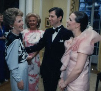 Gregory J. Newell - with Nancy Reagan and Mrs. Newell at Villa Åkerlund, Stockholm, 1987
