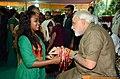 Narendra Modi celebrates Rakshabandhan 1.jpg
