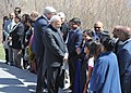 Narendra Modi meets the victims' families at the Wreath Laying Ceremony, at the Air India Memorial Site, in Toronto, Canada on April 16, 2015. The Prime Minister of Canada, Mr. Stephen Harper is also seen.jpg