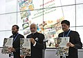 Narendra Modi releasing a book 'PARAMPARA', at the inauguration of the India Pavilion, at COP21 Summit, in Paris, France. The Minister of State for Environment, Forest and Climate Change (Independent Charge).jpg