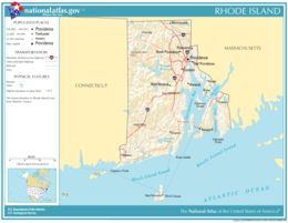Rhode Island Outline Vector Art