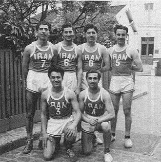 Iran national basketball team - Photograph of the Iranian national team at the 1948 Summer Olympics.