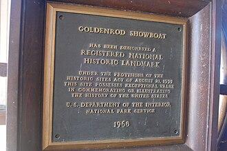 Goldenrod (showboat) - National historic register