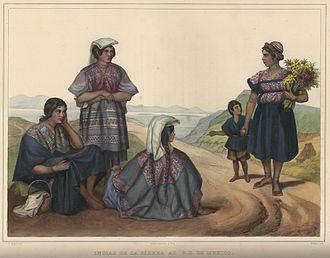Carl Nebel - Carl Nebel's depiction of Sierra Indians in Voyage pittoresque et archéologique dans la partie la plus intéressante du Mexique